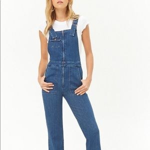 Flared Denim Overalls
